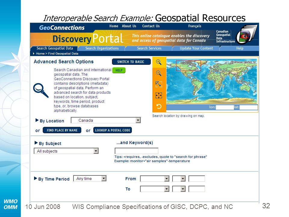 Interoperable Search Example: Geospatial Resources