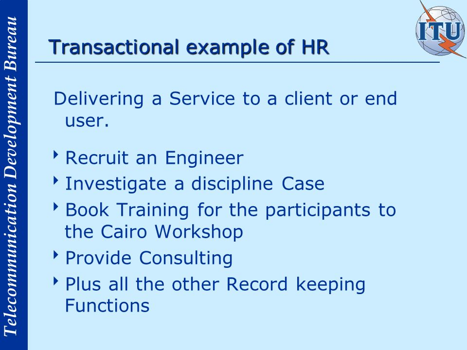 Transactional example of HR
