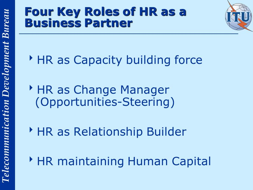 Four Key Roles of HR as a Business Partner