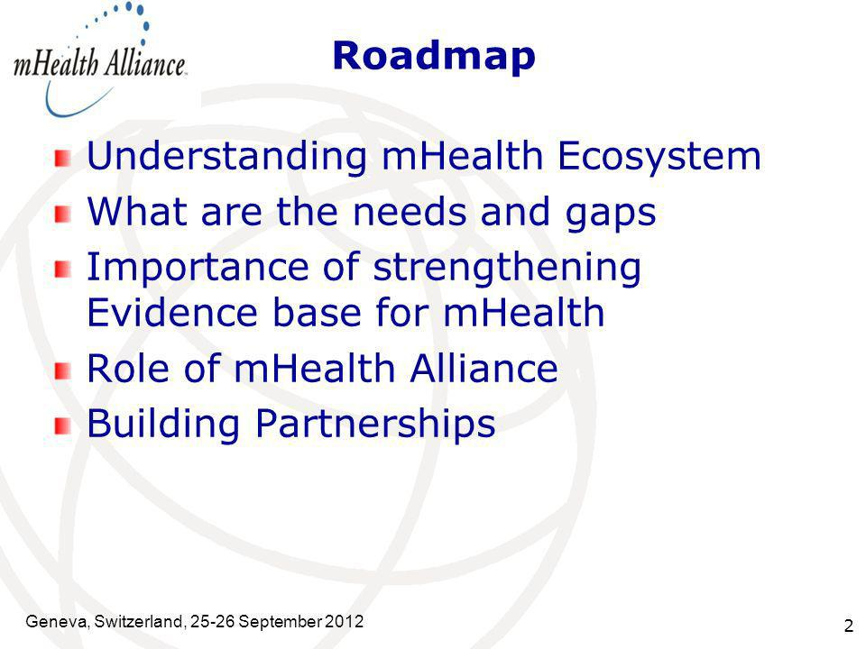 Understanding mHealth Ecosystem What are the needs and gaps