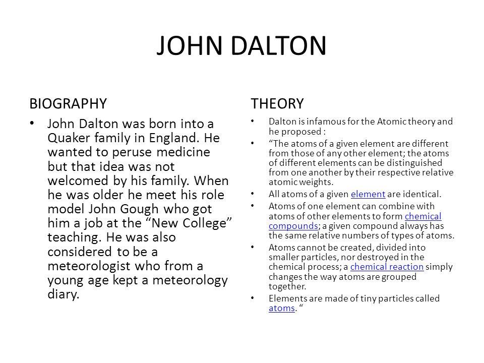 john dalton life