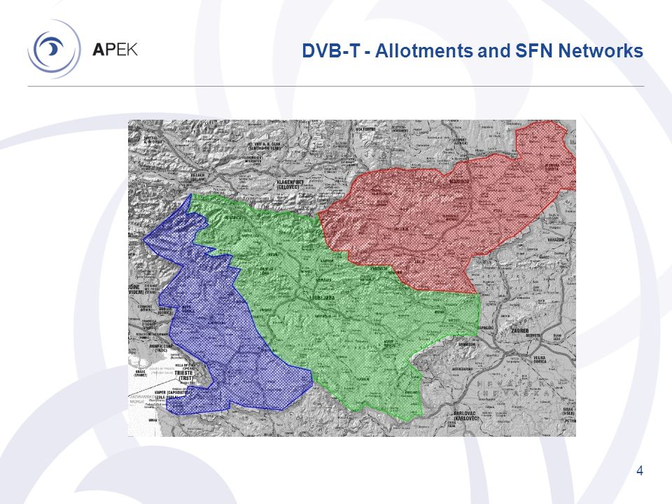 DVB-T - Allotments and SFN Networks