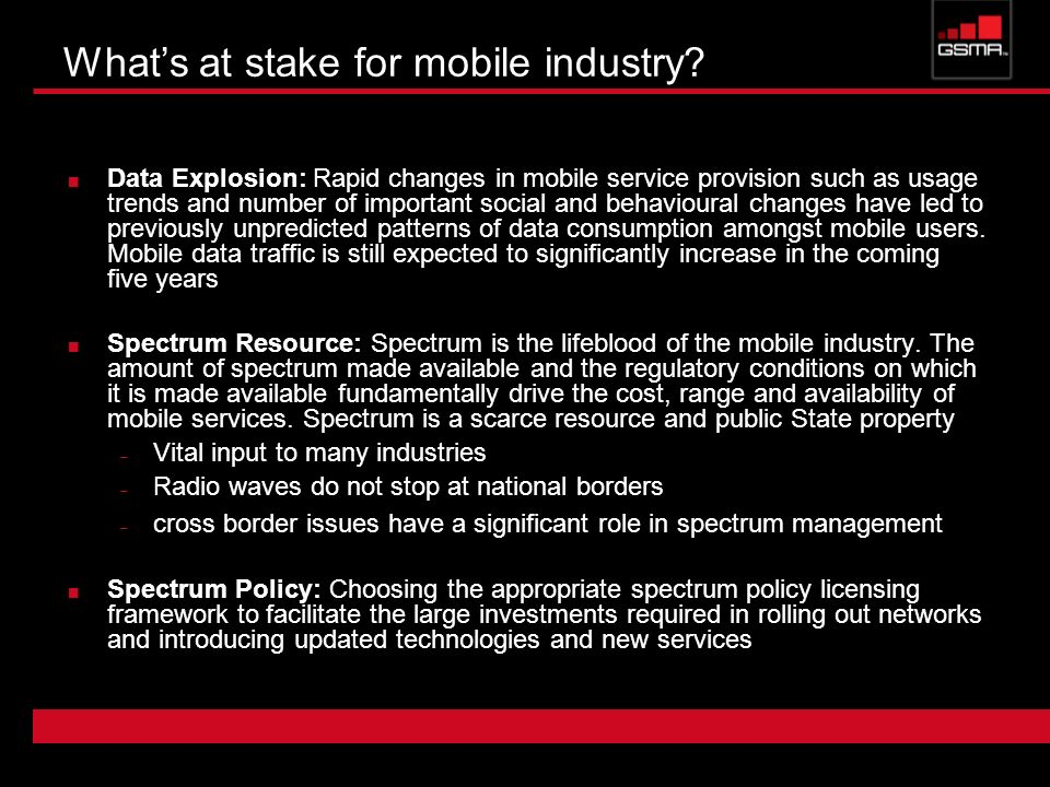 What's at stake for mobile industry