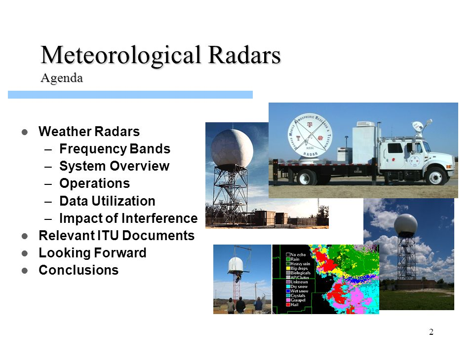 Meteorological Radars Agenda