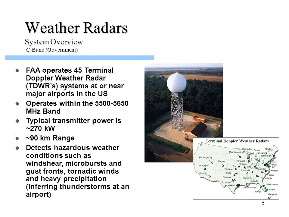 Weather Radars System Overview C-Band (Government)