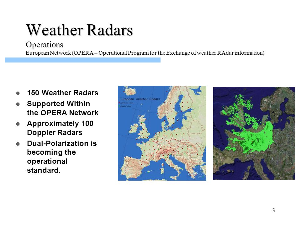 Weather Radars Operations 150 Weather Radars