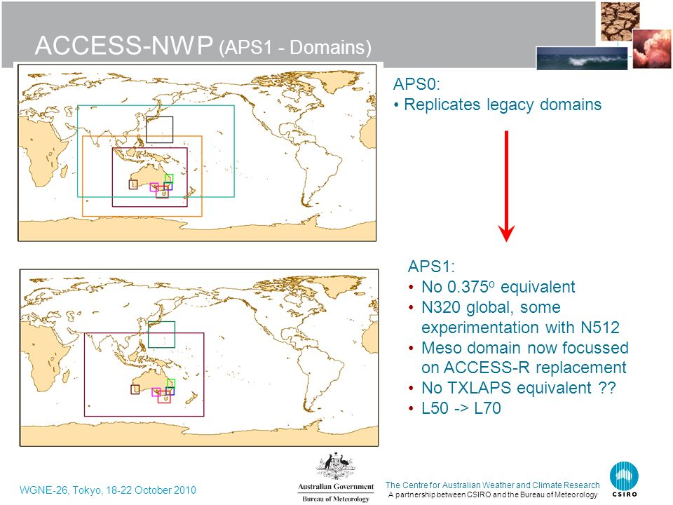 ACCESS-NWP (APS1 - Domains)