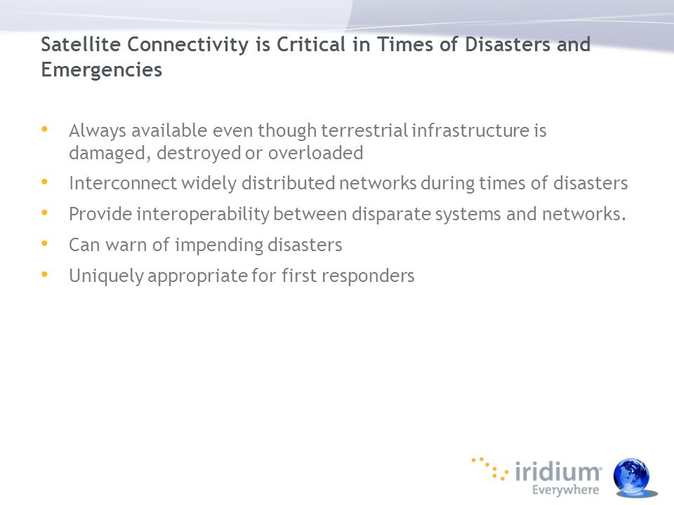 Satellite Connectivity is Critical in Times of Disasters and Emergencies