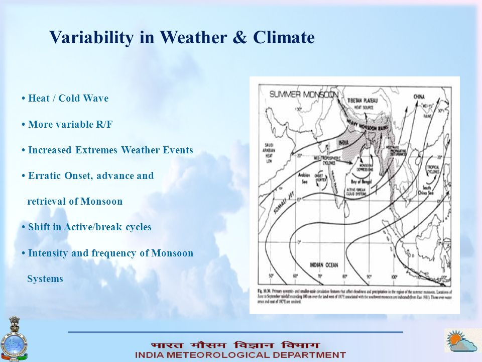Variability in Weather & Climate