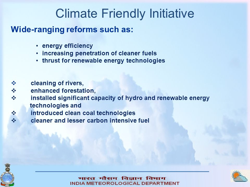 Climate Friendly Initiative