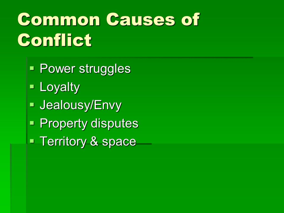 Common Causes of Conflict
