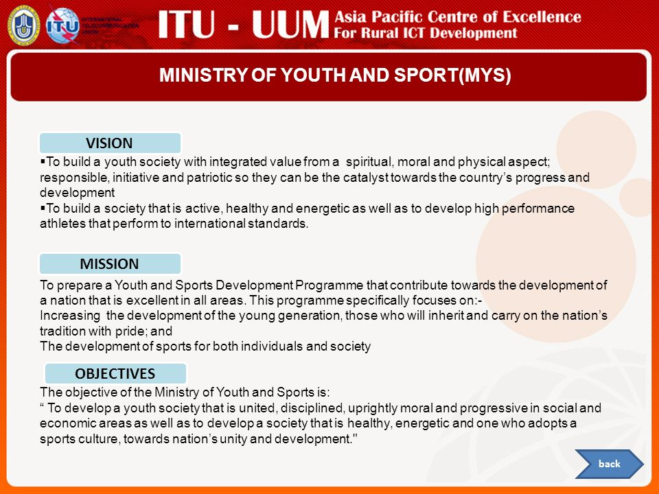 MINISTRY OF YOUTH AND SPORT(MYS)