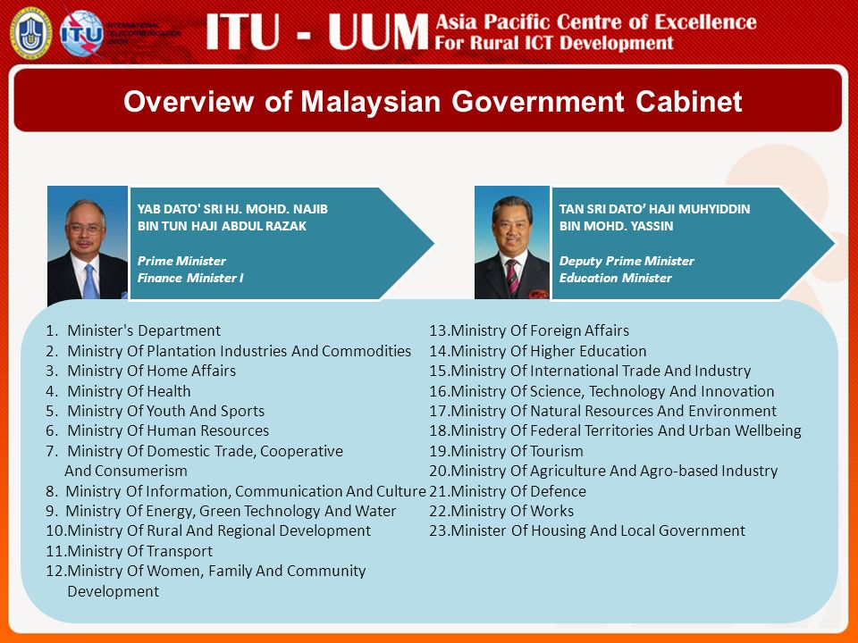 Overview of Malaysian Government Cabinet