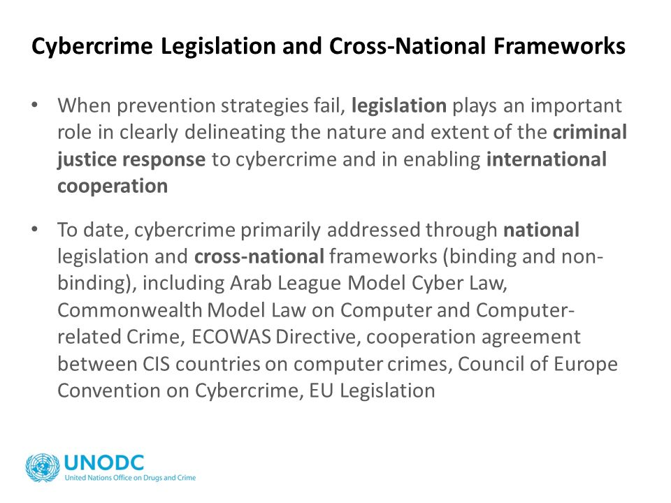 Cybercrime Legislation and Cross-National Frameworks