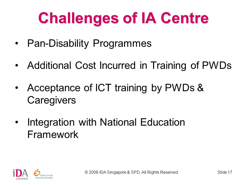 Challenges of IA Centre