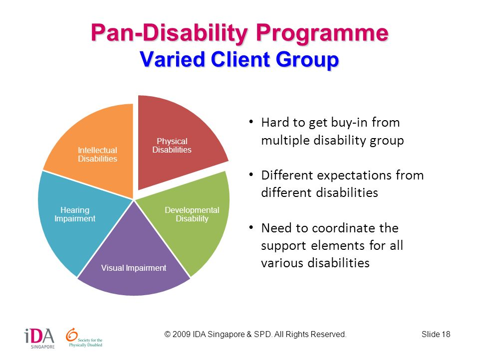 Pan-Disability Programme Varied Client Group