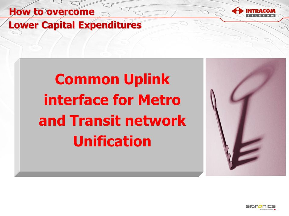 Common Uplink interface for Metro and Transit network Unification