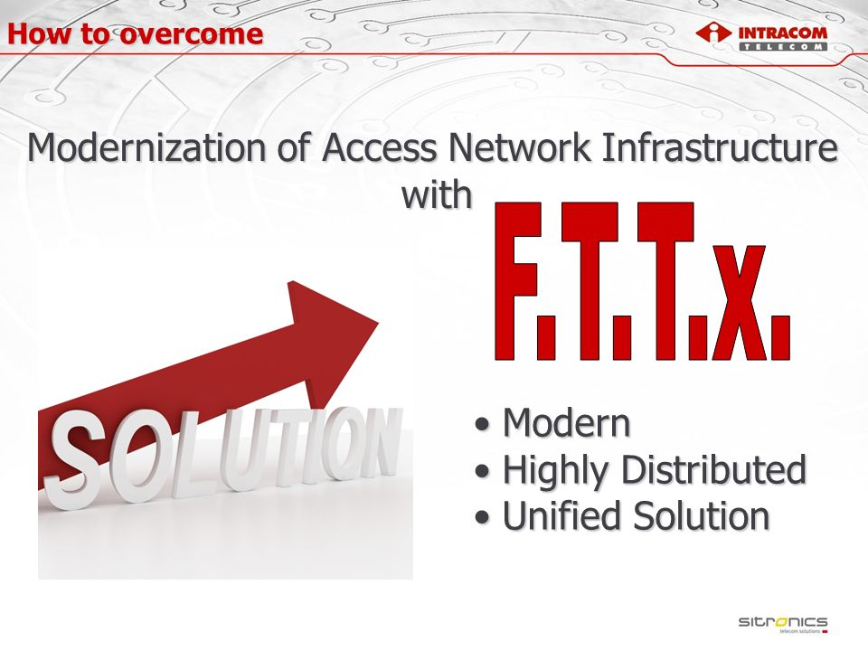 Modernization of Access Network Infrastructure