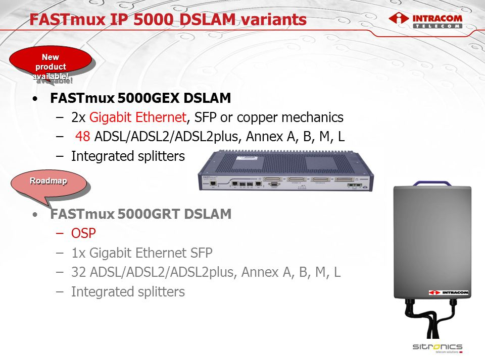 FASTmux IP 5000 DSLAM variants