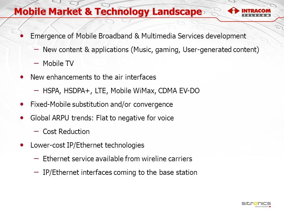 Mobile Market & Technology Landscape