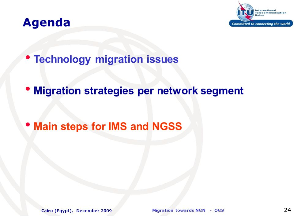 Agenda Technology migration issues
