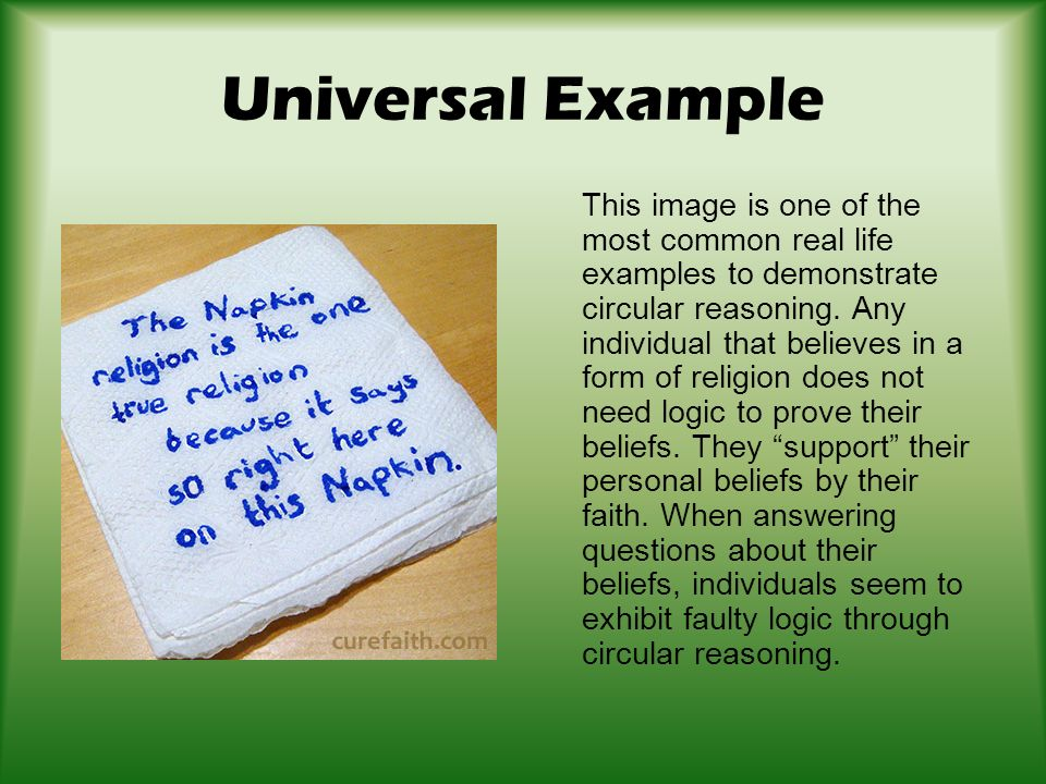 Begging The Questioncircular Reasoning Ppt Download