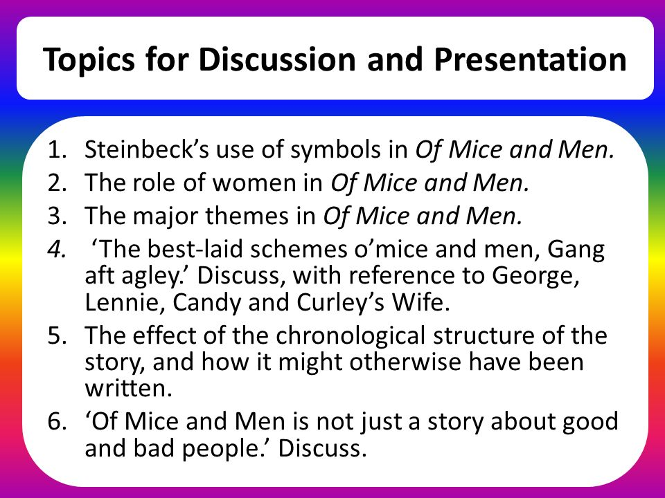 Of Mice And Men Chapter 6 Ppt Video Online Download