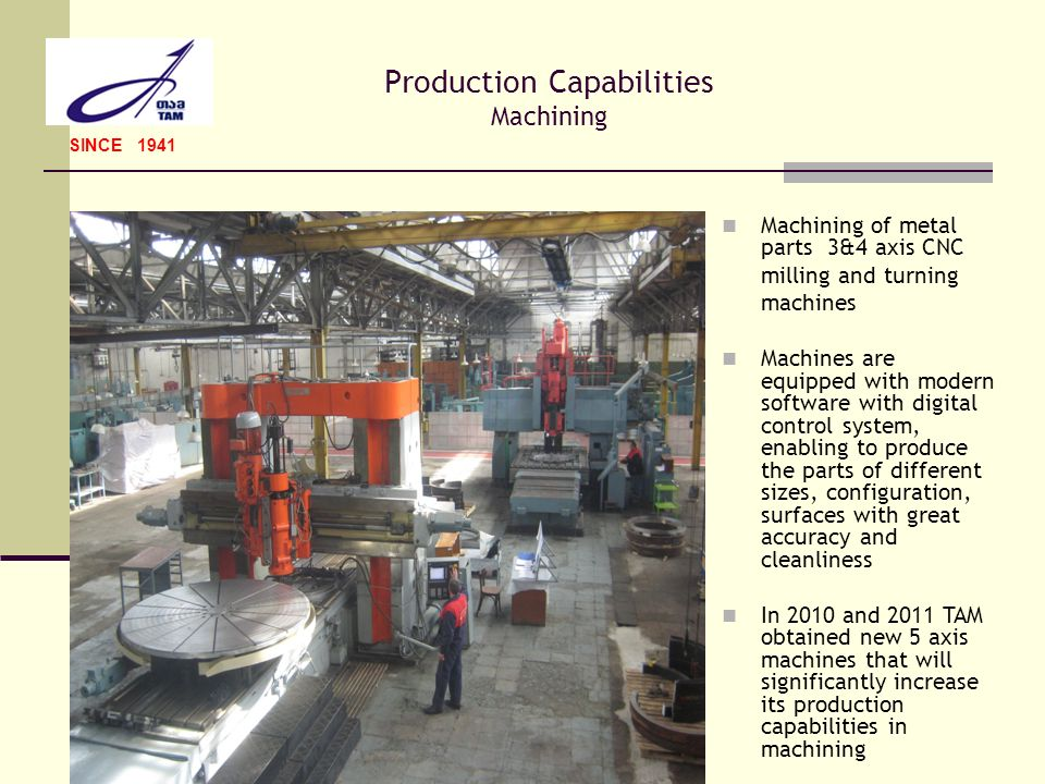Production Capabilities Machining