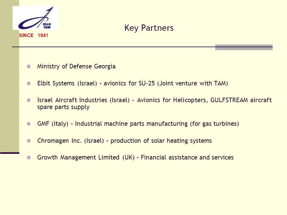 Key Partners Ministry of Defense Georgia