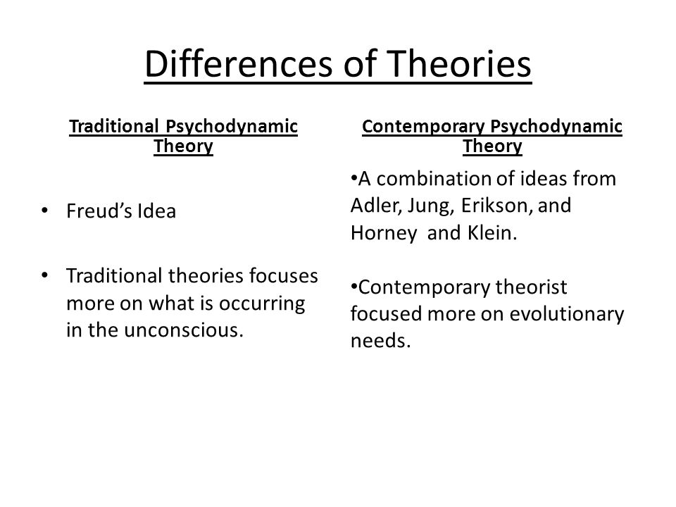 Differences of Theories