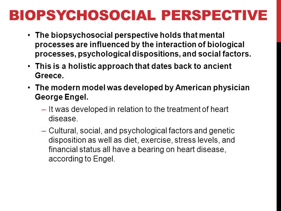 biopsychological perspective example