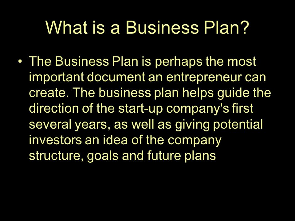 five elements of a business plan
