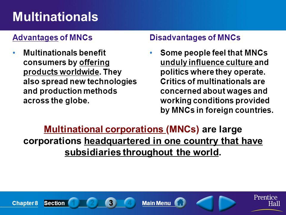 disadvantages of multinationals