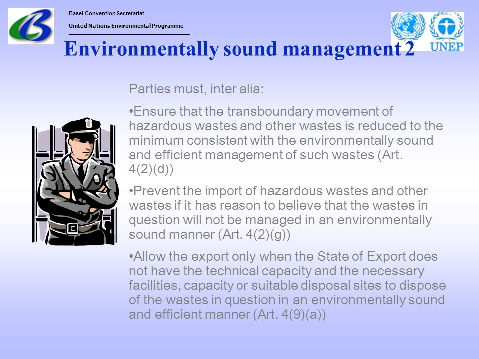 Environmentally sound management 2