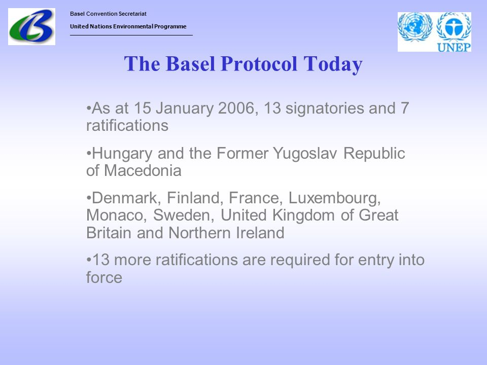 The Basel Protocol Today
