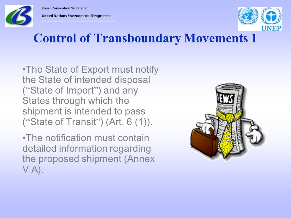 Control of Transboundary Movements 1