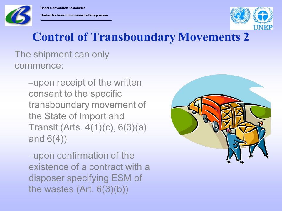 Control of Transboundary Movements 2