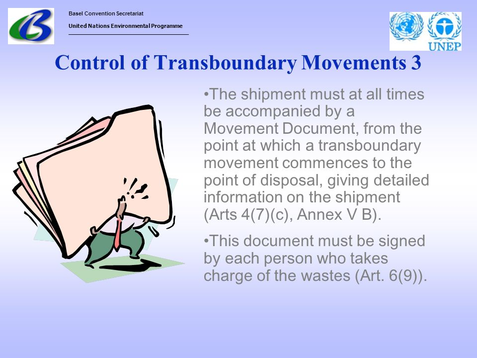 Control of Transboundary Movements 3