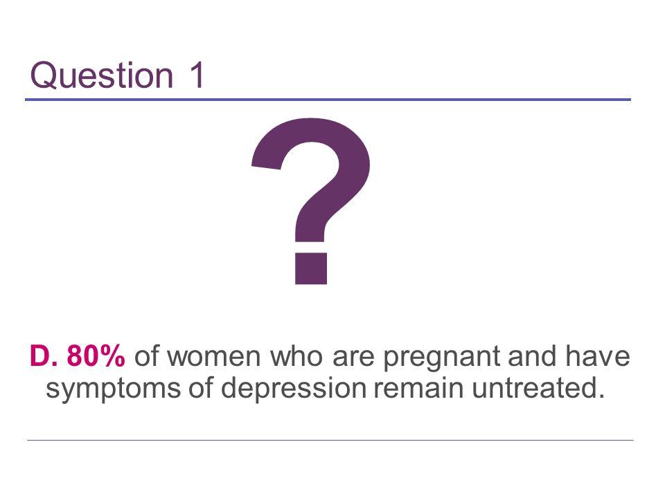 Reproductive Health Implications Of Depression Ppt Download