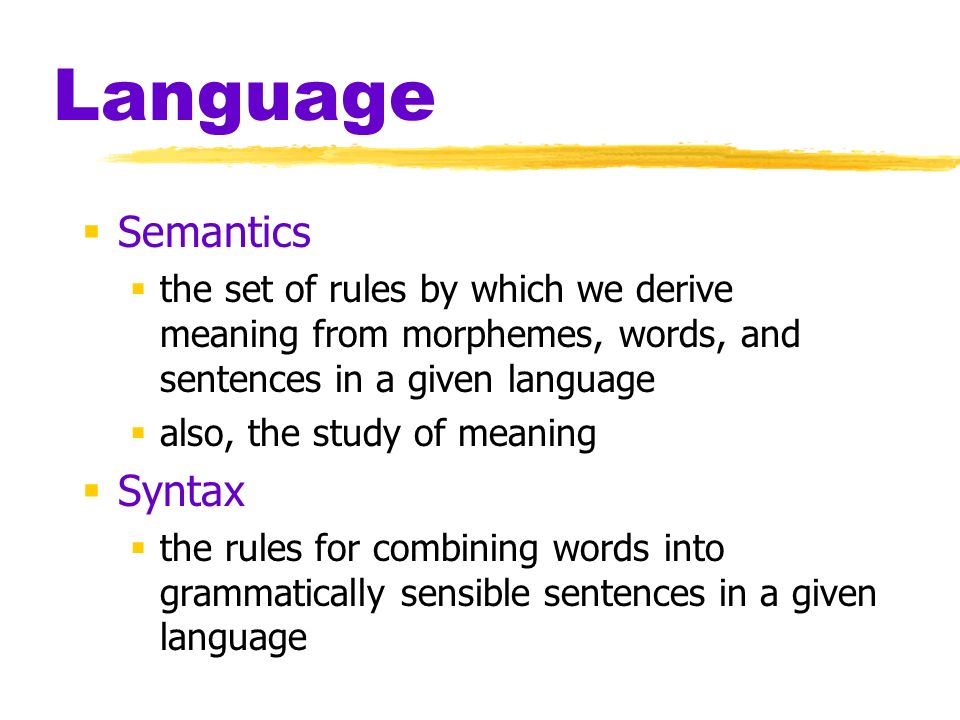Language Semantics Syntax