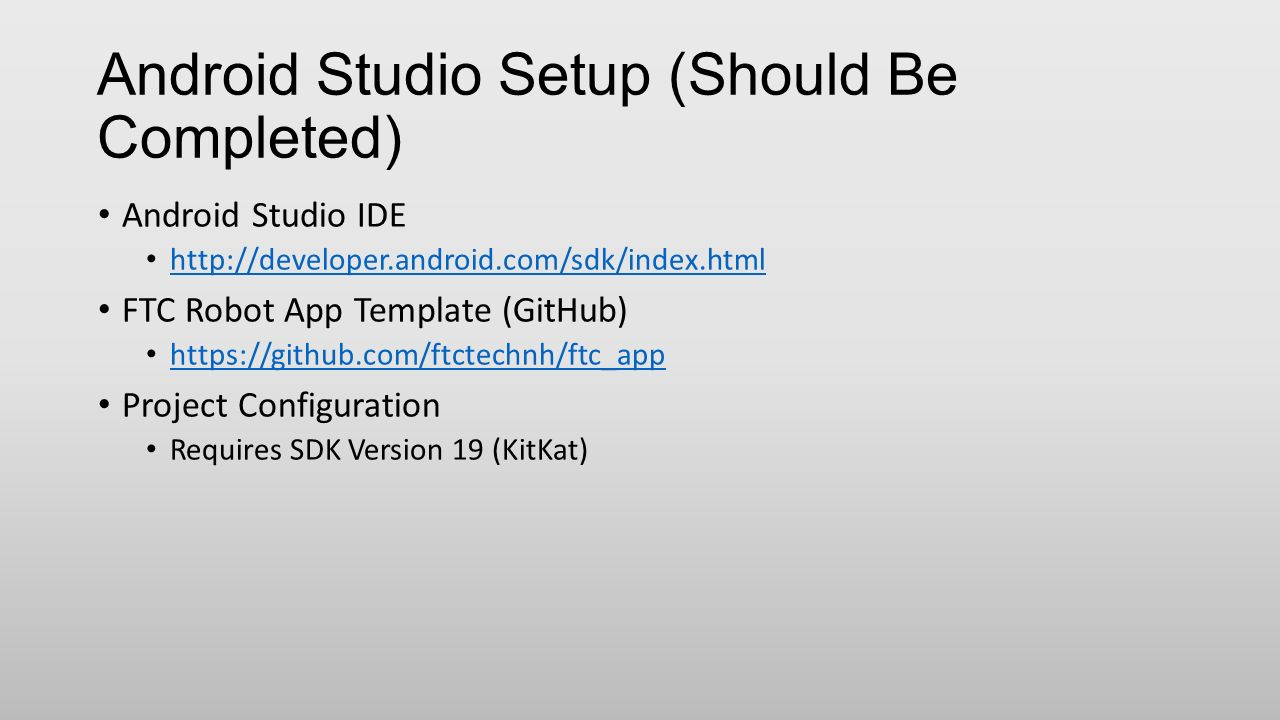 Ftc New Platform Programming Workshop In Android Studio Ppt Download