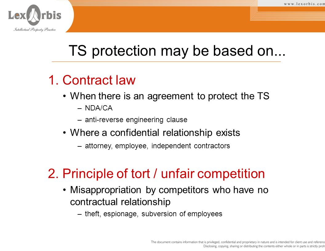 TS protection may be based on...