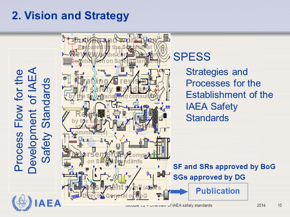 Process Flow for the Development of IAEA Safety Standards SPESS