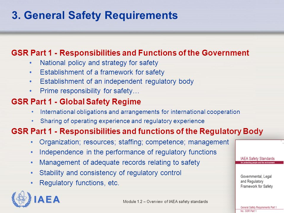 3. General Safety Requirements