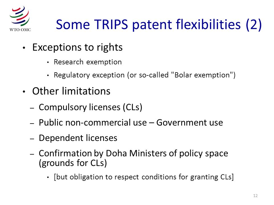 Some TRIPS patent flexibilities (2)