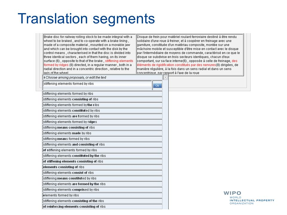 Translation segments