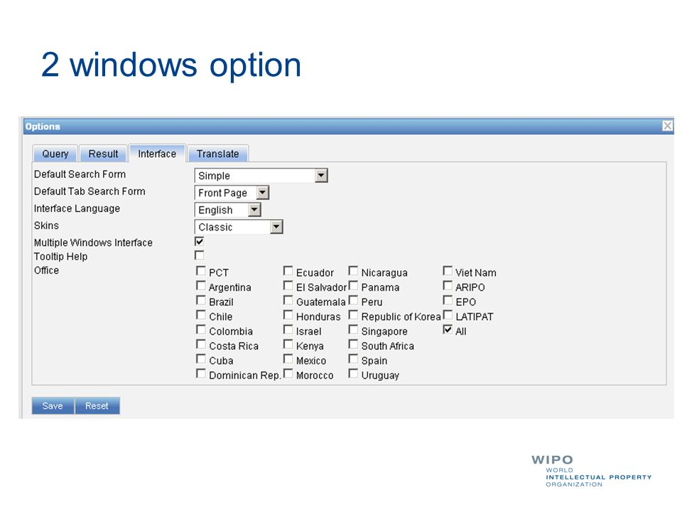 2 windows option