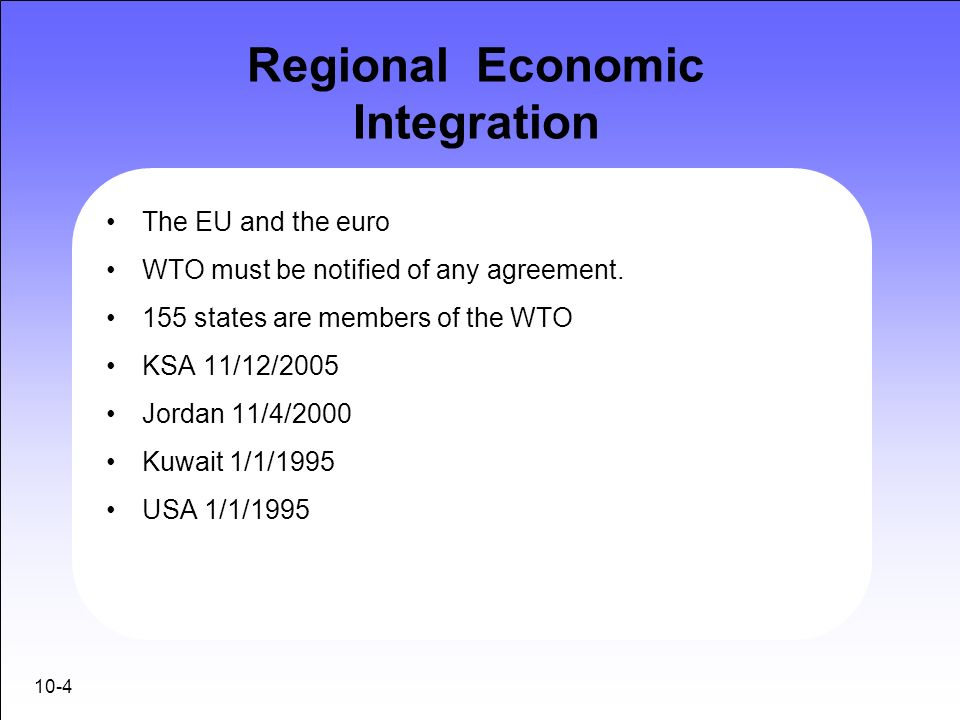 Regional Economic Integration Ppt Video Online Download