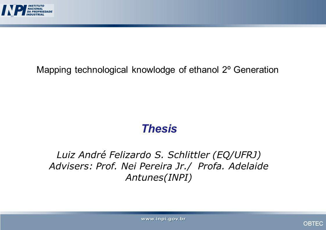 Mapping technological knowlodge of ethanol 2º Generation