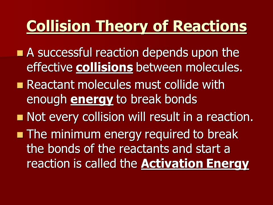 Collision Theory of Reactions